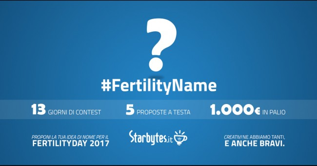 Fertilityname: dai un nuovo nome al Fertility Day