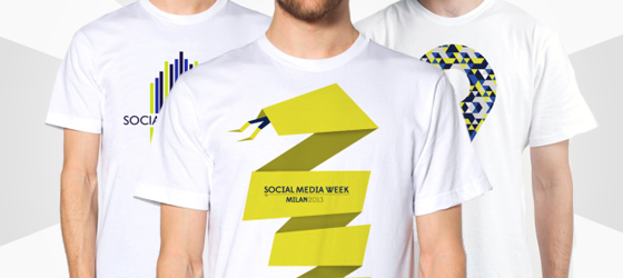 Creazione t-shirt Social Media Week